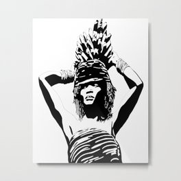Banana Girl Metal Print