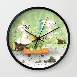 Fast as the rabbit Wall Clock