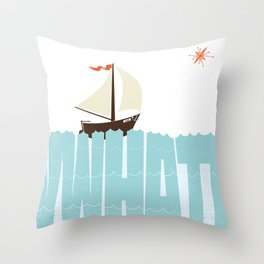 WHAT (floats my boat) Throw Pillow