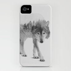 Wolf In The Woods (black & white version) Slim Case iPhone (4, 4s)