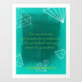 Constancy of Aim & Effort (Spanish) Art Print