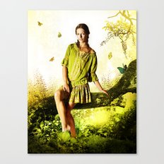 Butterflies Rain Canvas Print