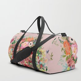 Vintage shell pink bouquet Duffle Bag