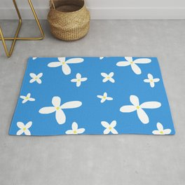 Classic Blue and White Flowers Rug