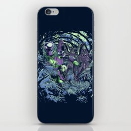 Welcome to the jungle (neon alternate) iPhone Skin