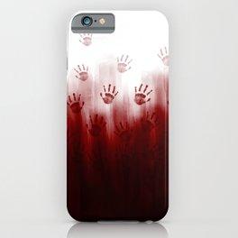 Terror Blood Hands iPhone Case