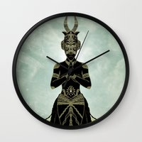ornate Wall Clocks featuring Ornate spirituality by Barruf