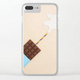 Milk Chocolate Clear iPhone Case