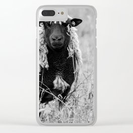 Sheep with sharp eyes Clear iPhone Case