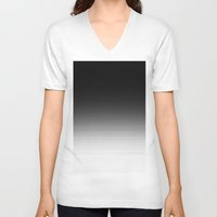 ombre V-neck T-shirts featuring Black Ombre by 2sweet4words Designs