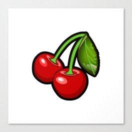 Checkered Cherries Canvas Print
