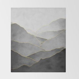 Minimal Landscape 01 Throw Blanket