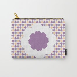 Flower and purple hexagons Carry-All Pouch