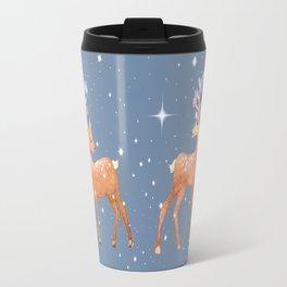 Christmas Deer, reindeer, christmas ornaments, holiday gift, christmas gift, gift for kids, xmas Travel Mug