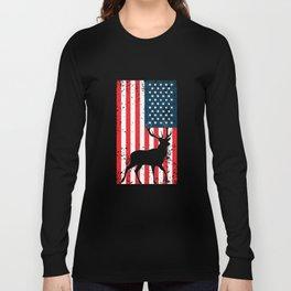 American Deer Hunter, Deer Hunting Gift, Deer Antler, Buck, 12 Pointer Long Sleeve T-shirt