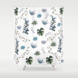 Indoor plant pattern Shower Curtain