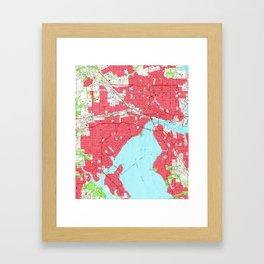 Vintage Map of Jacksonville Florida (1964) 2 Framed Art Print