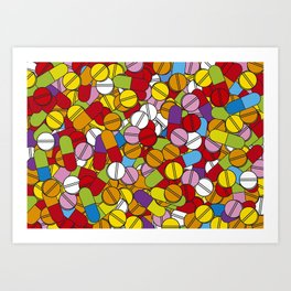 Lots of Pills Art Print