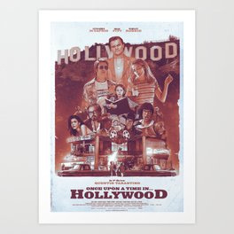 Once Upon A Time In... Hollywood Art Print