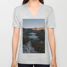 Mountain Ponds - Landscape and Nature Photography Unisex V-Neck