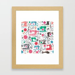 Sewing Pattern. Framed Art Print
