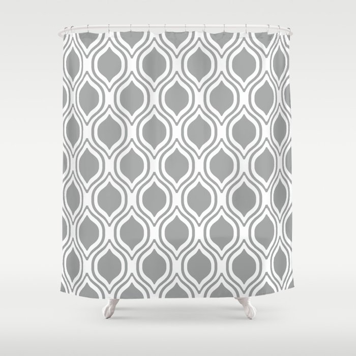 Grey And White Alabama Pattern University Of Crimson Tide College Shower Curtain