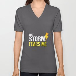 Vintage The Storm Fears Me Funny Severe Weather Unisex V-Neck