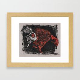 The Rape of the Sabine Women Framed Art Print
