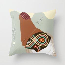 Barbados Stylized Throw Pillow