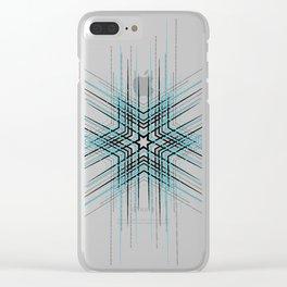 Blue Affiche Scandinave design, modern minimalist art Clear iPhone Case