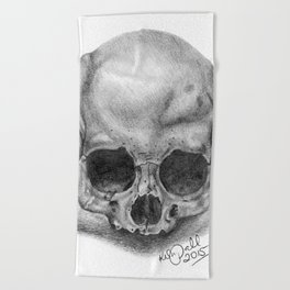 Shadow Skull Beach Towel