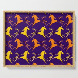 Horse Nation Purple Gold Serving Tray