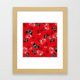 Video Game Red Framed Art Print
