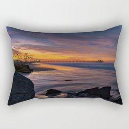 28th Street Jetty Sunrise Rectangular Pillow