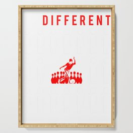 bowling be different t-shirt for merry christmas Serving Tray