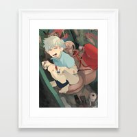 bathroom Framed Art Prints featuring Bathroom by dropout kings