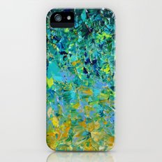 BEAUTY BENEATH THE SURFACE - Stunning Ocean River Water Nature Green Blue Teal Yellow Aqua Abstract Slim Case iPhone (5, 5s)