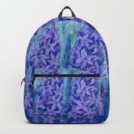 Hyacinths, blue and violet Backpack