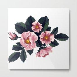 Bouquet of rose - Vintage Metal Print