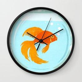 Goldfish Fishbowl Wall Clock