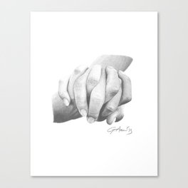 Insieme / Together - Hand Holding or Holding Hands Canvas Print