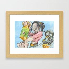 Shoot'n Penguens  Framed Art Print