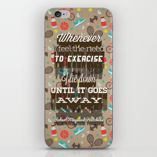 Exercising... iPhone Skin