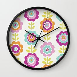 LARGE FLORAL PATTERN 2 Wall Clock