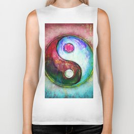 Yin Yang - Colorful Painting IV Biker Tank
