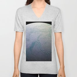Saturn's moon Enceladus Space Mission Fly-by Photograph Unisex V-Neck