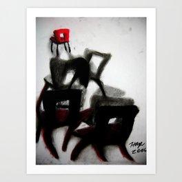 Chairs 1 Art Print