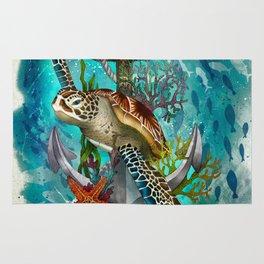 Turtle and Sea Rug