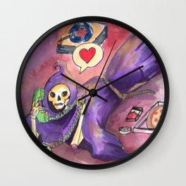 deathing in love Wall Clock