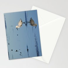 Egret walk Stationery Cards